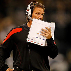 November 6, 2011; New Orleans, LA, USA; Tampa Bay Buccaneers offensive coordinator Greg Olsen during the first quarter of a game against the New Orleans Saints at the Mercedes-Benz Superdome. Mandatory Credit: Derick E. Hingle-US PRESSWIRE