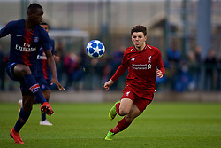 SAINT-GERMAIN-EN-LAYE, FRANCE - Wednesday, November 28, 2018: Liverpool's Bobby Duncan during the UEFA Youth League Group C match between Paris Saint-Germain Under-19's and Liverpool FC Under-19's at Stade Georges-Lefèvre. (Pic by David Rawcliffe/Propaganda)