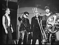 U2 at The BRIT Awards 1993 <br /> Tuesday 16 Feb 1993.<br /> Alexandra Palace, London, England<br /> Photo: John Marshall - JM Enternational