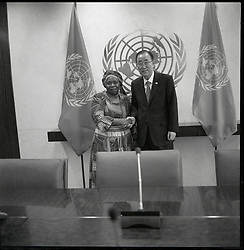 October 2, 2015 - Dr. Nkosazana Dlamini Zuma, Chairperson, of the African Union with United Nations Secretary General Ban Ki moon. (Credit Image: ©  via ZUMA Wire)