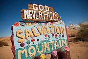 Leonard Knight's Salvation Mountain in Niland, California
