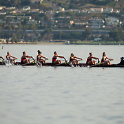 11 November 2018: The San Diego State Aztecs women's rowing team competed in the San Diego Fall Classic Regatta on the waters of Mission Bay Sunday morning.