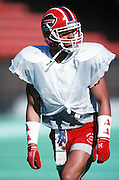 The American Football Conference Buffalo Bills wide receiver Andre Reed gets set to go out for a pass during practice the week before the 1989 NFL Pro Bowl football game against the National Football Conference on Jan. 24, 1989 in Honolulu. The NFC won the game 34-3. (©Paul Anthony Spinelli)