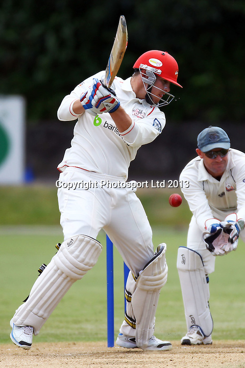 Wizards George Worker, Plunket Shield, 4 day domestic cricket. Auckland Aces v Canterbury Wizards. Eden Park Outer Oval, Auckland, 15 November 2013. Photo: William Booth/photosport.co.nz