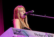 New singer Katie Shodder performs at the Beyonce Experience Concert in Madison Square Garden on Saturday, August 4, 2007 in New York.