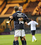 Martin Boyle goal celebrattion - Dundee v Raith Rovers, Scottish League Cup at Dens Park<br /> <br />  - &copy; David Young - www.davidyoungphoto.co.uk - email: davidyoungphoto@gmail.com