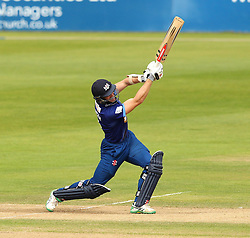 Gloucestershire's Michael Klinger hits a six - Mandatory by-line: Robbie Stephenson/JMP - 07966386802 - 04/08/2015 - SPORT - CRICKET - Bristol,England - County Ground - Gloucestershire v Durham - Royal London One-Day Cup