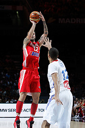 06.09.2014, Palacio de Deportes, Madrid, ESP, FIBA WM, Frankreich vs Kroatien, im Bild France´s Gobert (R) and Croatia´s Markota // during FIBA Basketball World Cup Spain 2014 match between France and Croatia at the Palacio de Deportes in Madrid, Spain on 2014/09/06. EXPA Pictures © 2014, PhotoCredit: EXPA/ Alterphotos/ Victor Blanco<br /> <br /> *****ATTENTION - OUT of ESP, SUI*****