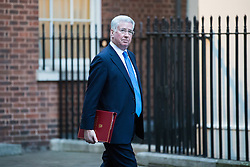 © Licensed to London News Pictures. 10/01/2017. London, UK. Defence Secretary Michael Fallon arrives on Downing Street ahead of the weekly Cabinet meeting. Photo credit: Rob Pinney/LNP
