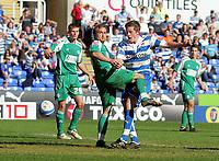 © Andrew Fosker / Richard Lane Photography 2010 - Gylfi Sigurdsson scores his 2nd and reading's 6th as Charlie Lee misses the tackle -  Reading v Peterborough - Coca-Cola Championship - 17/04/2010 - Madejski Stadium - Reading - UK.