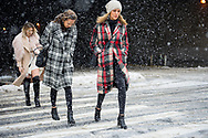 Plaid Coats in the Snow, NYFW Day 1 FW2017