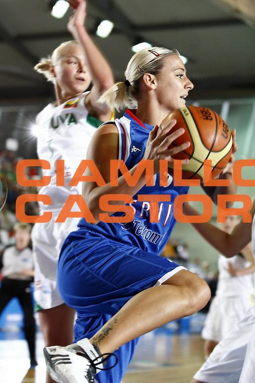 DESCRIZIONE : Valmiera Latvia Lettonia Eurobasket Women 2009 Lituania Serbia Lithuania Serbia<br /> GIOCATORE : Milica Dabovic<br /> SQUADRA : Serbia<br /> EVENTO : Eurobasket Women 2009 Campionati Europei Donne 2009 <br /> GARA :  Lituania Serbia Lithuania Serbia<br /> DATA : 07/06/2009 <br /> CATEGORIA : penetrazione <br /> SPORT : Pallacanestro <br /> AUTORE : Agenzia Ciamillo-Castoria/E.Castoria<br /> Galleria : Eurobasket Women 2009 <br /> Fotonotizia : Valmiera Latvia Lettonia Eurobasket Women 2009Lituania Serbia Lithuania Serbia<br /> Predefinita :