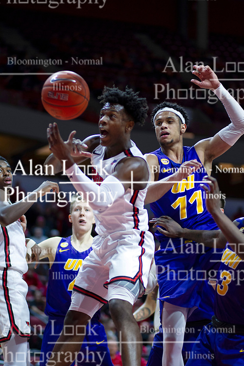 NORMAL, IL - December 31: DJ Horne during a college basketball game between the ISU Redbirds and the University of Northern Iowa Panthers on December 31 2019 at Redbird Arena in Normal, IL. (Photo by Alan Look)