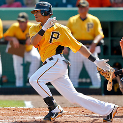 February 25, 2011; Bradenton, FL, USA; Pittsburgh Pirates center fielder Gorkys Hernandez (66) during a spring training exhibition game against the State College of Florida Manatees at McKechnie Field. The Pirates defeated the Manatees 21-1. Mandatory Credit: Derick E. Hingle-US PRESSWIRE