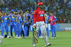 May 8, 2018 - Jaipur, Rajasthan, India - Kings XI Punjab team batsman Chris Gayle walk towards pavalion during the IPL T20 match against Rajasthan Royals at Sawai Mansingh Stadium in Jaipur,Rajasthan,India on 8th May,2018.(Photo By Vishal Bhatnagar/NurPhoto) (Credit Image: © Vishal Bhatnagar/NurPhoto via ZUMA Press)