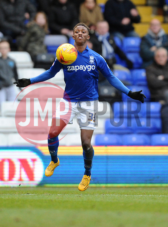 Birmingham City's Demarai Gray controls the ball  - Photo mandatory by-line: Joe Meredith/JMP - Mobile: 07966 386802 - 28/02/2015 - SPORT - Football - Birmingham - ST Andrews Stadium - Birmingham City v Brentford - Sky Bet Championship
