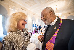 13 September 2017, New York, USA: On Gathering at the Yale Club in New York on 13 September for an interfaith prayer breakfast, faith leaders from a multitude of religions came together to support a coordinated faith-based effort in responding to HIV. The event was hosted by the World Council of Churches–Ecumenical Advocacy Alliance (WCC-EAA) in collaboration with UNAIDS, the United States President's Emergency Plan for AIDS Relief and the United Nations Interagency Task Force on Religion and Development on the side-lines of the 72nd session of the United Nations General Assembly. Here, PEPFAR's Ambassador Birx (left) and Rev. Edwin Sanders (right).