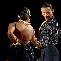 23 January 2010: Regina Murtasina and Simon Voelbel perform during the Masters Bercy Latin and Ballroom (standard) Dancesport Championship 2010, at Palais Omnisports Paris Bercy, in Paris, France. .