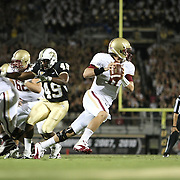 Boston College quarterback Chase Rettig (11) during an NCAA football game between the Boston College Eagles and the UCF Knights at Bright House Networks Stadium on Saturday, September 10, 2011 in Orlando, Florida. (AP Photo/Alex Menendez)