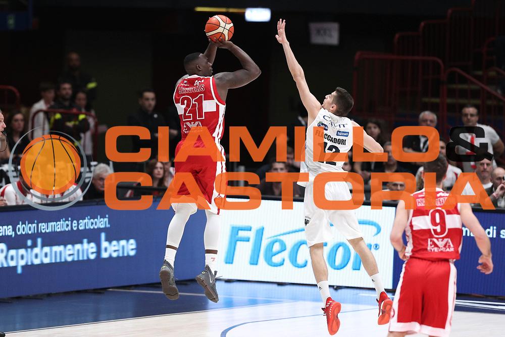 Sanders Rakim<br /> EA7 Emporio Armani Olimpia Milano - Dolomiti Energia Aquila Basket Trento<br /> Lega Basket Serie A, Semifinali Playoff 2016/2017<br /> Milano, 25/05/2017<br /> Foto Ciamillo-Castoria