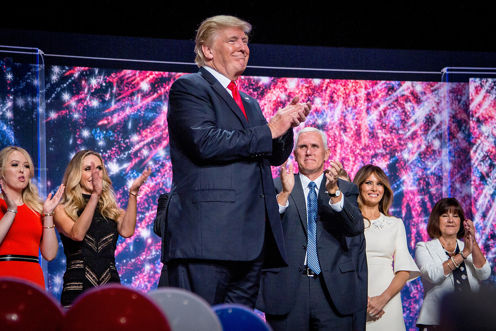 The Republican National Convention in Cleveland, where Donald Trump is nominated as the republican presidential candidate.