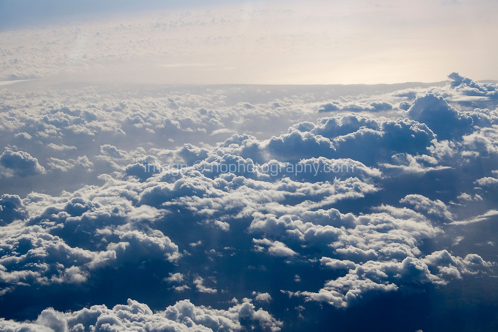 Arial view of clouds from Airplane