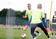 SWIDNIK, POLEN 2017-06-12<br /> Gustav Engvall under U21 landslagets tr&auml;ning p&aring; Stadion Miejski den 12 juni 2017.<br /> Foto: Nils Petter Nilsson/Ombrello<br /> Fri anv&auml;ndning f&ouml;r kunder som k&ouml;pt U21-paketet.<br /> Annars Betalbild.<br /> ***BETALBILD***