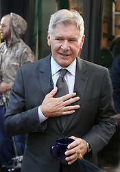 15.08.2013, New York, USA, ABC Show, Good Morning Amerika, im Bild Actor Harrison Ford seen // during the ABC Show Good Morning Amerika in New York, Unites States of Amerika on 2013/08/15. EXPA Pictures © 2013, PhotoCredit: EXPA/ Newspix/ MediaPunch Inc<br /> <br /> ***** ATTENTION - for AUT, SLO, CRO, SRB, BIH, TUR, SUI and SWE only *****