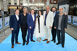 (left to right) Thomas Turgoose, Rupert Graves, Rob Brydon, Charlotte Riley Jim Carter, Rob Brydon, Charlotte Riley, JIm Carter, Daniel Mays and Oliver Parker attending the Swimming with Men premiere held at Curzon Mayfair, London.
