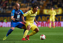 November 30, 2017 - Vila-Real, Castellon, Spain - Carlos Bacca of Villarreal CF and iago Diaz of SD Ponferradina during the Copa del Rey, Round of 32, Second Leg match between Villarreal CF and SD Ponferradina at Estadio de la Ceramica on november 30, 2017 in Vila-real, Spain. (Credit Image: © Maria Jose Segovia/NurPhoto via ZUMA Press)