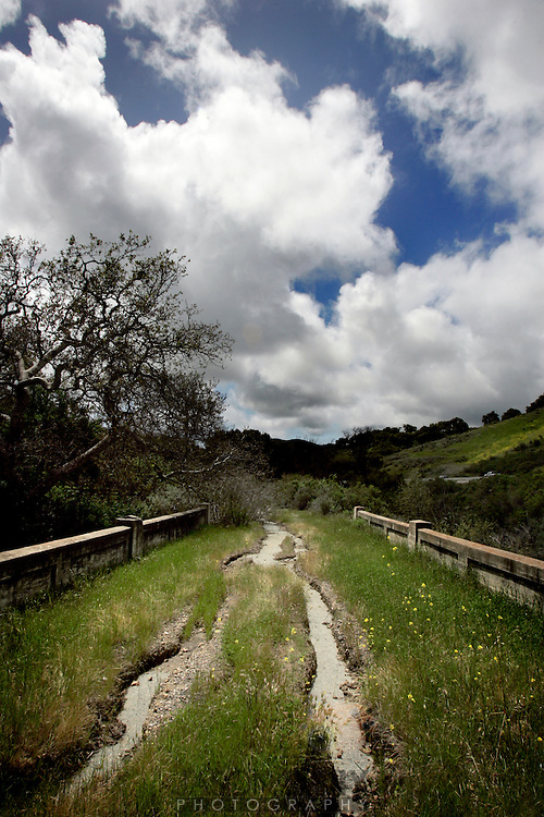 West of Solvang an old deserted road right below Highway One.. .Photo by Jason Doiy.4-15-06