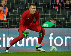 MILTON KEYNES, ENGLAND - Wednesday, September 25, 2019: Liverpool's goalkeeper Jakub Ojrzynski during the pre-match warm-up before the Football League Cup 3rd Round match between MK Dons FC and Liverpool FC at Stadium MK. (Pic by David Rawcliffe/Propaganda)