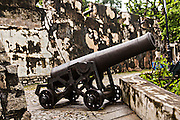 Cannons in Fortaleza do Monte or Monte Forte Macau.
