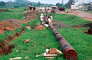 MEXICO, INDUSTRY oil and natural gas pipeline in Veracruz