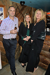Left to right, SAM JEFFRIES, SARAH SCOTT and DEMELZA JONES at a party in honour of the Walking With The Wounded team members held at Bodo's Schloss, 2A Kensington High Street, London on 13th November 2013.
