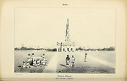 The Church in Madras (Now Chennai) is the capital of the Indian state of Tamil Nadu. Souvenirs d'un voyage dans l'Inde exécuté de 1834 à 1839 (A voyage to India) by Delessert, Adolphe, published in Paris in 1843