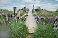 Bridge Leading To The Beach And Crossing The Dunes , Ogunquit - Maine, USA, 2016