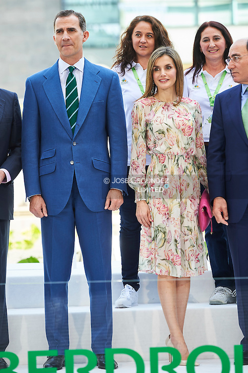 King Felipe VI of Spain, Queen Letizia of Spain Attend Delivery of the 'Scholarships for Masters and Research grants' of the Iberdrola Foundation at Iberdrola headquarters on July 5, 2016 in Madrid