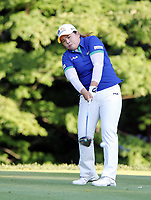 17 August 2014: Inbee Park in action during the final round of the Wegmans LPGA Golf Damen Championship at the Monroe Golf Club in Pittsford, <br /> Norway only