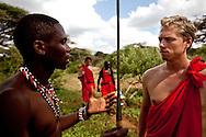 Maasai Warrior training at Bush adventures in Kenya.