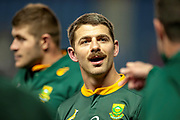 Willie le Roux (#15) (Wasps) of South Africa at the end of the Autumn Test match between Scotland and South Africa at the BT Murrayfield Stadium, Edinburgh, Scotland on 17 November 2018.