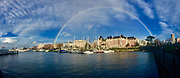 Panoramic, Rainbow, Victoria Harbor, Victoria, British Columbia, Canada