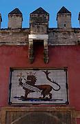 Seville Spain<br />Alcazar Palace Lions Gate.