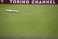 Matchballs lined up on the field of play before the Serie A match at Stadio Grande Torino, Turin. Picture date: 20th June 2020. Picture credit should read: Jonathan Moscrop/Sportimage