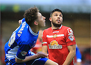 Marcus Haber during the Sky Bet League 1 match between Crewe Alexandra and Rochdale at Alexandra Stadium, Crewe, England on 6 February 2016. Photo by Daniel Youngs.