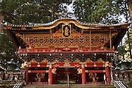 Gate to Futarasan Shrine, Nikkos' second most elaborate shrine after Toshugu, though both are UNESCO World Heritage Sites.