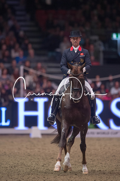Hester Carl (GBR) - Fine Time 13<br /> Reem Acra FEI World Cup Dressage <br /> London International Horse Show Olympia 2013<br /> &copy; Hippo Foto - Jon Stroud