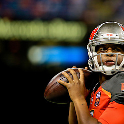 Sep 20, 2015; New Orleans, LA, USA; Tampa Bay Buccaneers quarterback Jameis Winston (3) before a game against the New Orleans Saints at the Mercedes-Benz Superdome. Mandatory Credit: Derick E. Hingle-USA TODAY Sports