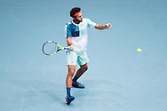 Jo-Wilfred Tsonga during the final of the Erste Bank Open at Wiener Stadthalle, Vienna, Austria.<br /> Picture by EXPA Pictures/Focus Images Ltd 07814482222<br /> 30/10/2016<br /> *** UK &amp; IRELAND ONLY ***<br /> EXPA-PUC-161030-0302.jpg