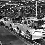 1954 Studebaker truck final assembly line at the company's Chippewa Avenue plant.